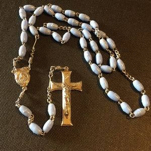 Vintage blue beaded Rosary